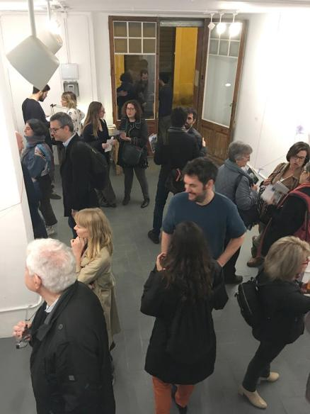 Claire's exhibition opening in Barcelona, Spain