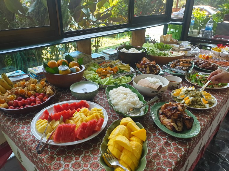 Home-cooked meals at Studio 88 Artist Residency, Chiangmai