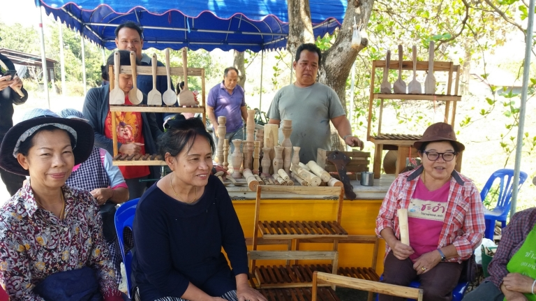 Workshop with senior citizens at Studio 88 Artist Residency, Chiang Mai