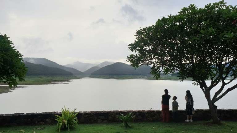 Rui Matsunaga at Mae Kuang reservoir near Studio 88 Artist Residency, Chiang Mai